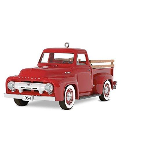 Hallmark Keepsake Christmas Ornament 2018 Year Dated, All-American Trucks 1954 Mercury M-100, Metal