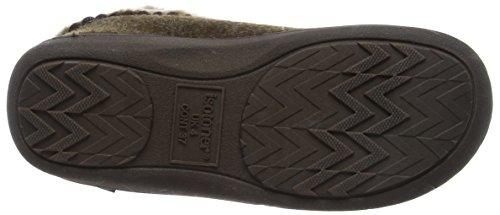 Isotoner Damen Fine Knit Boot Slippers Hohe Hausschuhe Braun (Brown)
