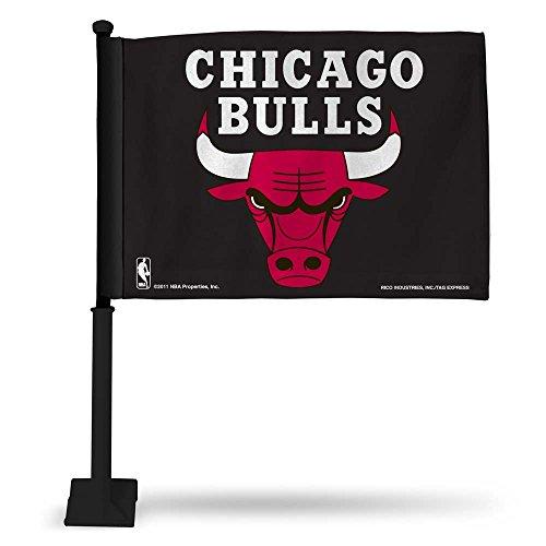 - Rico NBA Bulls Car Flag with Black Pole, 8 x 1, Black