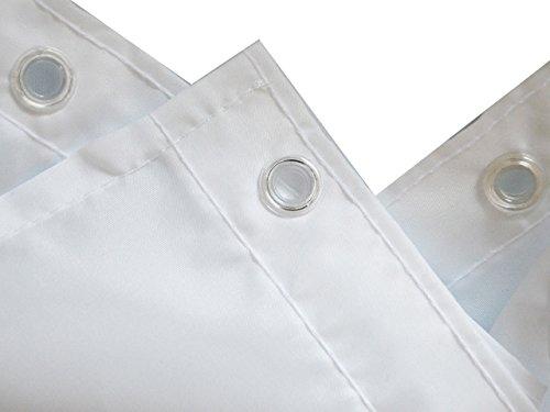 Gesundheitsfreundlich Duschvorhang aus Stoff DAISY G/ÄNSEBL/ÜMCHEN Alle Seiten sind sauber umgen/äht verst/ärkte /Ös waschbarer Textil Duschvorhang in der Gr/ö/ße 120 cm Breit x 200 cm Hoch f/ür Duschvorhangstange
