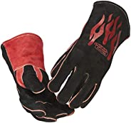 """Lincoln Electric Traditional MIG/Stick Welding Gloves   14"""" Lined Leather   Kevlar Stitching   K297"""