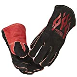 Lincoln Electric Traditional MIG/Stick Welding Gloves | 14' Lined Leather | Kevlar Stitching | K2979-ALL