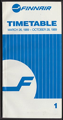 - Finnair Airlines System Airline Timetable 3/26 - 10/28 1989