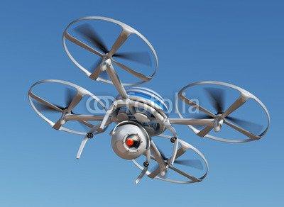 AluminiumDibond 70 x 50 cm AluminiumDibond image 70 x 50 cm   Surveillance drone flying , image on a AluminiumDibond