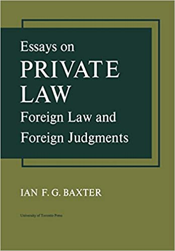 Bestselgere eBok gratis Essays on Private Law: Foreign Law and Foreign Judgments by Ian F G Baxter in Norwegian PDF FB2 iBook 1442651717
