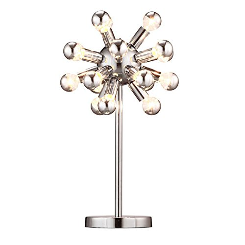 Zuo 50007 Pulsar Table Lamp, Chrome