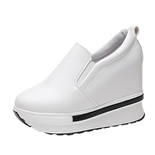 Toe Casual Round Shoes Boot Womens White Shoes Faux Heels High Leather Inkach Ankle U8xSvqnn