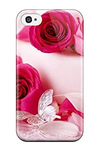 Durable Defender Case For Iphone 4/4s Tpu Cover(flower 32) by icecream design