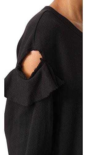 Wilt Women's Raw Ruffle Sweatshirt, Black, Large by Wilt (Image #5)