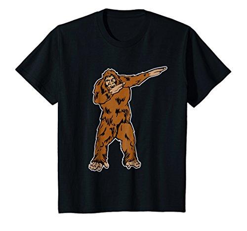 Price comparison product image Kids Funny DABBING BIGFOOT T-shirt - DAB SASQUATCH shirt 8 Black