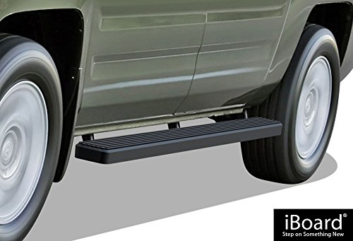iBoard Running Boards (Nerf Bars | Side Steps | Step Bars) For 2006-2014 Honda Ridgeline Crew Cab Pickup 4-Door | (Black Powder Coated 4 inches)