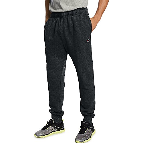 Champion Men's Powerblend Retro Fleece Jogger Pant_Black_S