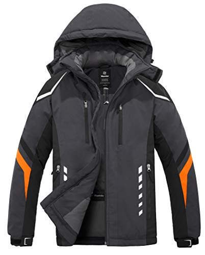 Wantdo Men's Mountain Waterproof Ski Jacket Warm Winter Snow Coat Windproof Raincoat Outdoor Windbreaker