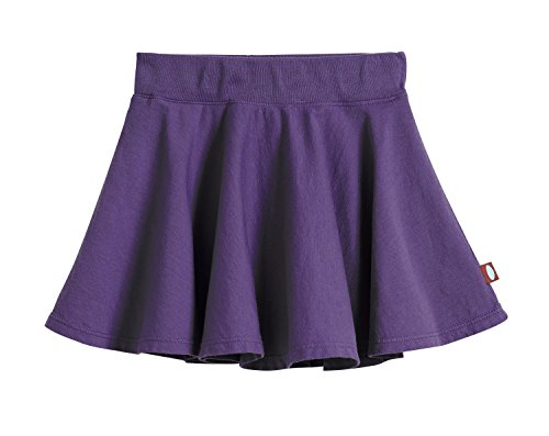 City Threads Little Girls' Cotton Twirly Skirt Perfect For Sensitive Skin/SPD/Sensory Friendly For School or Play Fall/Spring, Purple, Size 7 ()