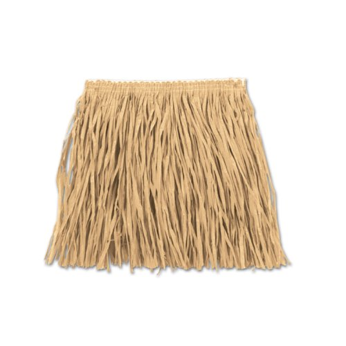 Beistle 54582-N Child Mini Hula Skirt for Halloween Party, 22-Inch Width by 12-Inch Length (Raffia Hula Skirt)