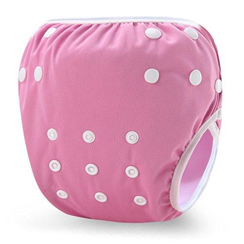 storeofbaby Baby Swim Diaper Reusable Waterproof Short Trunks for Girls Swimmer 0-3 Years Pink ()