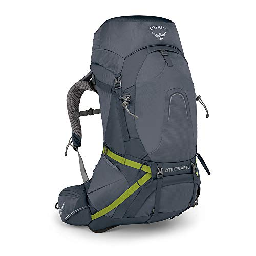 Osprey Packs Atmos Ag 50 Backpacking Pack, Abyss Grey, Large