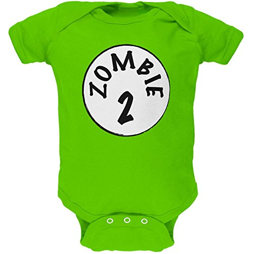 Old Glory Halloween Zombie 2 Two Costume Apple Green Soft Baby One Piece - 9-12 Months