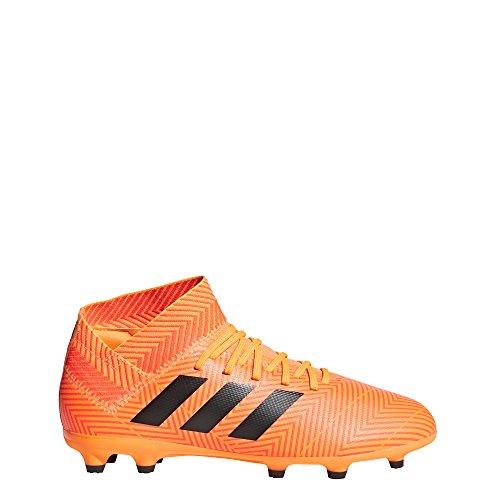 adidas Unisex Nemeziz 18.3 FG J Running Shoe, Zest/core Black/Solar red, 13.5K M US Big Kid