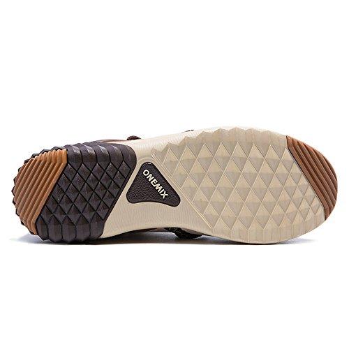 Oscuro Marron Zapatillas Onemix1205 Altas Mujer SRIvnnqaw