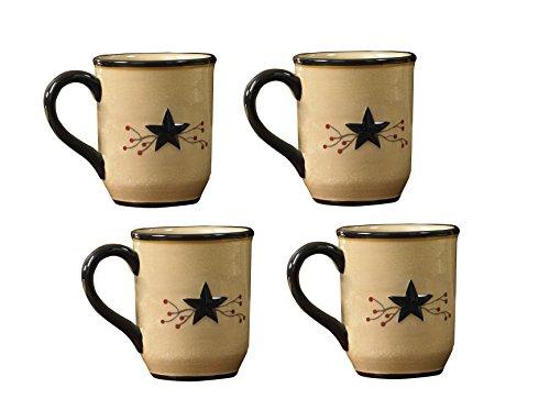 (Park Designs Star Vine Mugs (Set of 4), Multicolor)