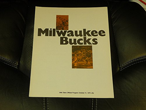 (1975 1976 ABA NBA BASKETBALL PROGRAM BUCKS UTAH STARS LAST GAME MOSES MALONE)