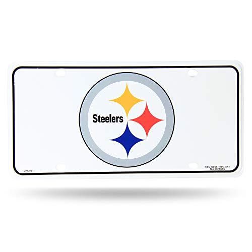 (Rico Industries NFL Pittsburgh Steelers Metal License Plate Tag)
