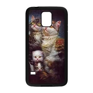 CAT YT8056287 Phone Back Case Customized Art Print Design Hard Shell Protection SamSung Galaxy S5 G9006V