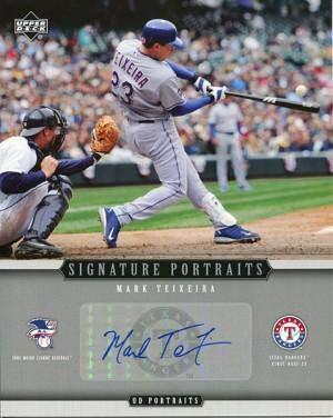 Mark Teixeira Photograph - Mark Teixeira Autographed Photograph - 2005 Upper Deck Portraits 8x10 Card - Autographed MLB Photos