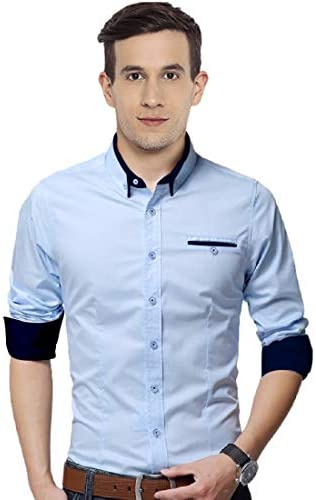 Zolario Cotton Casual Shirts for Men, Regular Fit, Full Sleeve, Ideal for Regular Wear, Office Smart Casuals