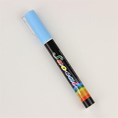 Better Annie 2 Pcs Liquid Chalk Marker Pens Erasable Multi Colored Highlighters Led Writing Board Glass Window Art 8 Colours Marker Pens Blue