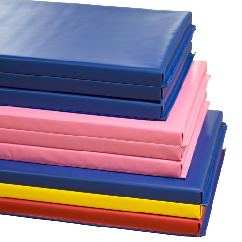 We Sell Mats Folding Gymnastics Tumbling Panel Mat, Blue, 6-Feet x 2-Inch by We Sell Mats