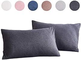 SFXOSA 枕カバー 2枚セット 綿100% 柔らかい ホテル品質 全サイズピローケース 選べる サテン織 300本高密度 防ダニ 抗菌 防臭