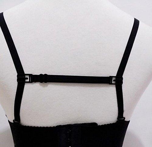 KLOUD City 3 Pcs Non-slip Women's Elastic Bra Strap Holder (Black,White,Skin Color)