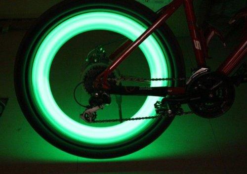 Goliton Bike Bicycle Cycling LED Wheel Spoke Safety Warning Flash Light Lamp -green