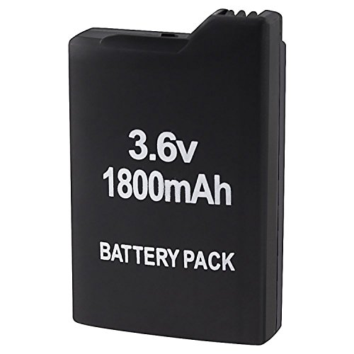 LASUS FOR SONY PSP 1000 1001 High capacity 1800mAh Extended Rechargeable Battery US ()