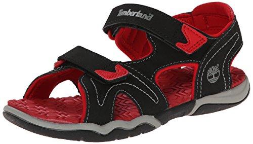 Red Sport Adventure Timberland Seeker Kids Sandals 2 Strap Black AZWSOxqw4