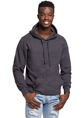 (Russell Athletic Men's Cotton Rich Fleece Hoodie, Charcoal Grey Heather, XXL)