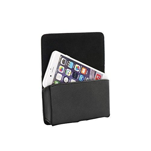 """Premium Handytasche Quertasche Gürteltasche passend für """"Apple Iphone 6 Plus"""" Handy Schutz Hülle Outdoor Case Cover Etui schwarz"""