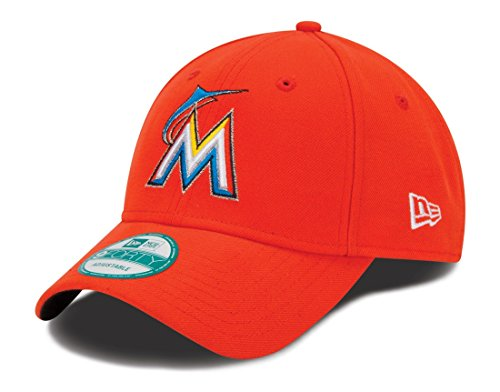 promo code 047f6 c818f New Era MLB Miami Marlins Road The League 9FORTY Adjustable Cap, One Size,  Orange