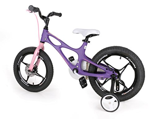 RoyalbabySpace Shuttle Lightweight Magnesium Kid's Bike with Disc Brakes for Boys and Girls, 18 inch with Kickstand, Lilac by Royalbaby (Image #6)