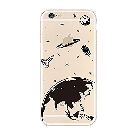 coque iphone 6 noir motif transparent