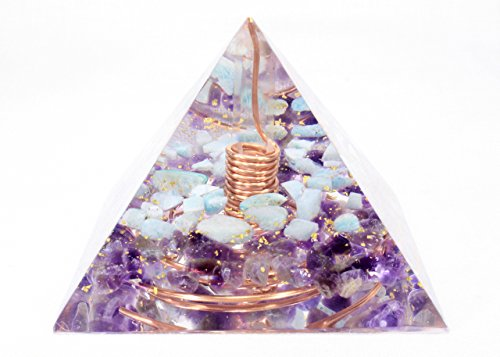 Orgonite Orgone Pyramid   Energy Generator   Wealth Money Success   Crystal Gemstone Pyramid   Quartz Amazonite Amethyst   Large   Powerful     Add Yours To Cart Now