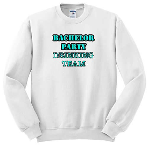 Stag,Bachelor Party - Bachelor Party Drinking Team Turquoise - Sweatshirts - Adult Sweatshirt 4XL (SS_261065_7) ()