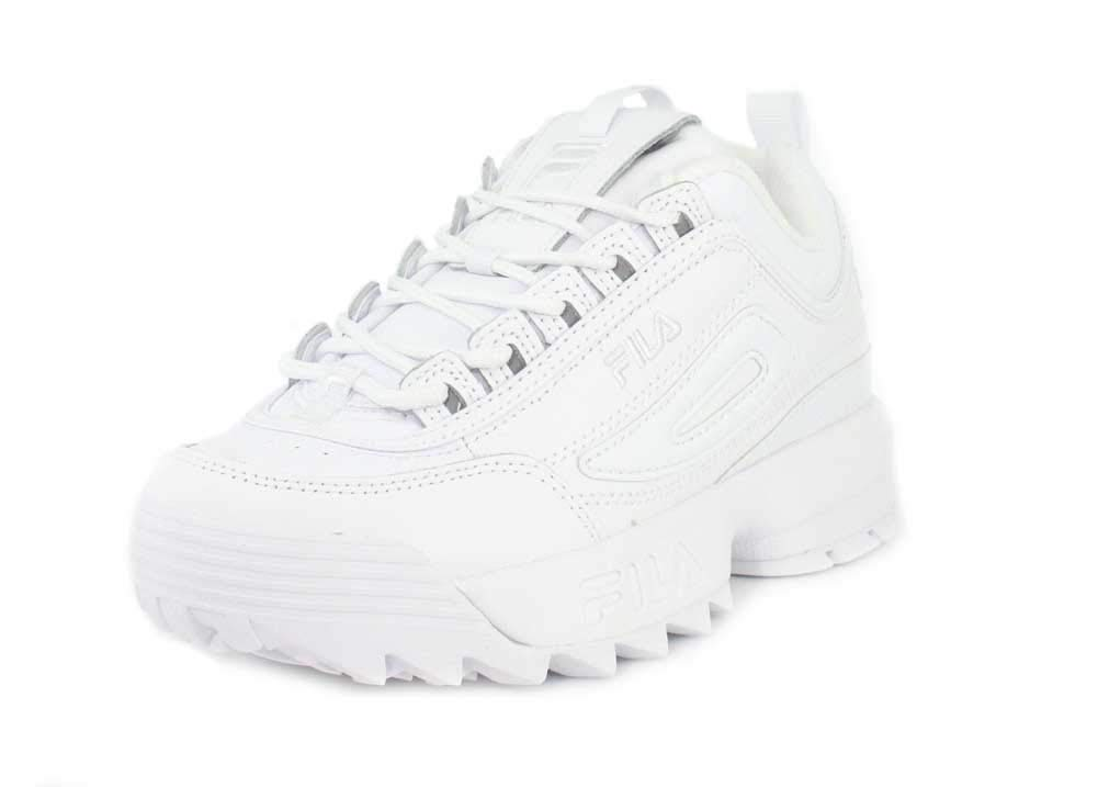 369a10108db2 Galleon - Fila Women s Disruption II Premium Sneakers White   White   White  6.5