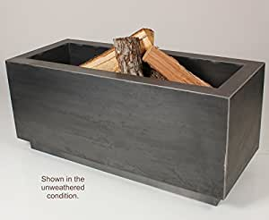 Amazon.com: Rectangular Cor-Ten Steel Wood Burning Fire ...