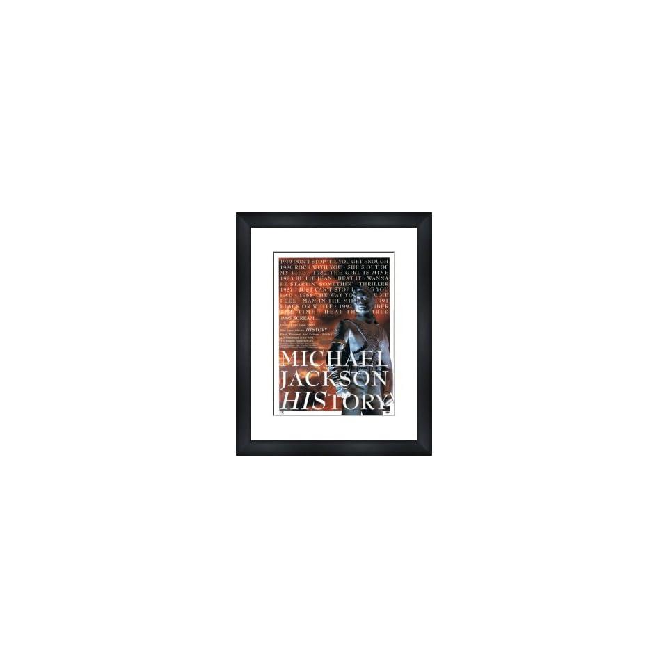 MICHAEL JACKSON History   Custom Framed Original Ad   Framed Music Poster/Print