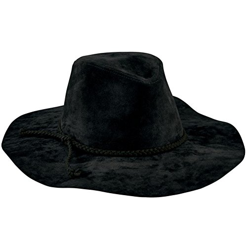 San Diego Hat Company Women's Braided Trim Faux Suede Fedora Hat, Black, One Size]()