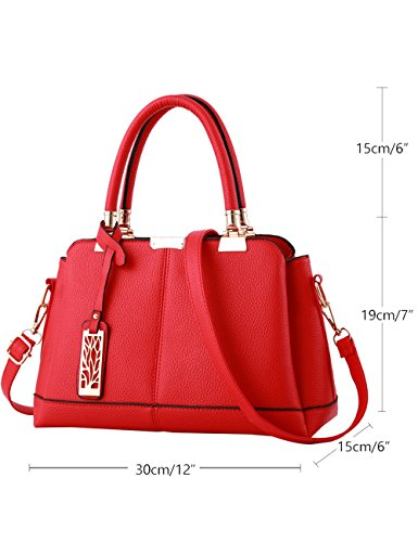 Bags Bags Womens Shoulder Handle body Cross Red Hand Red PU CT0wp