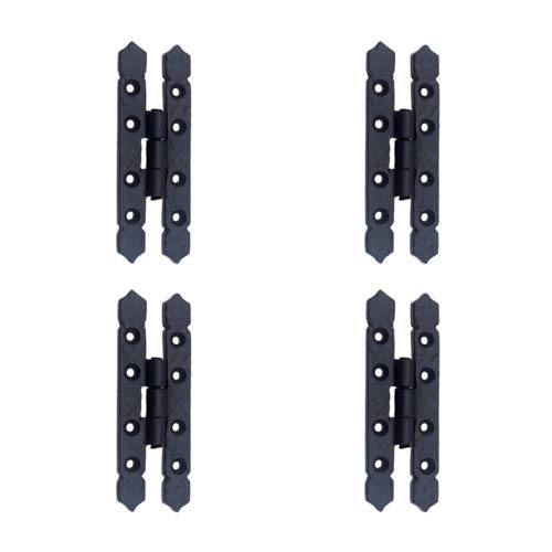 Adonai Hardware Allon Black Antique Iron H Hinge(Supplied as Four Pieces per Pack) ()